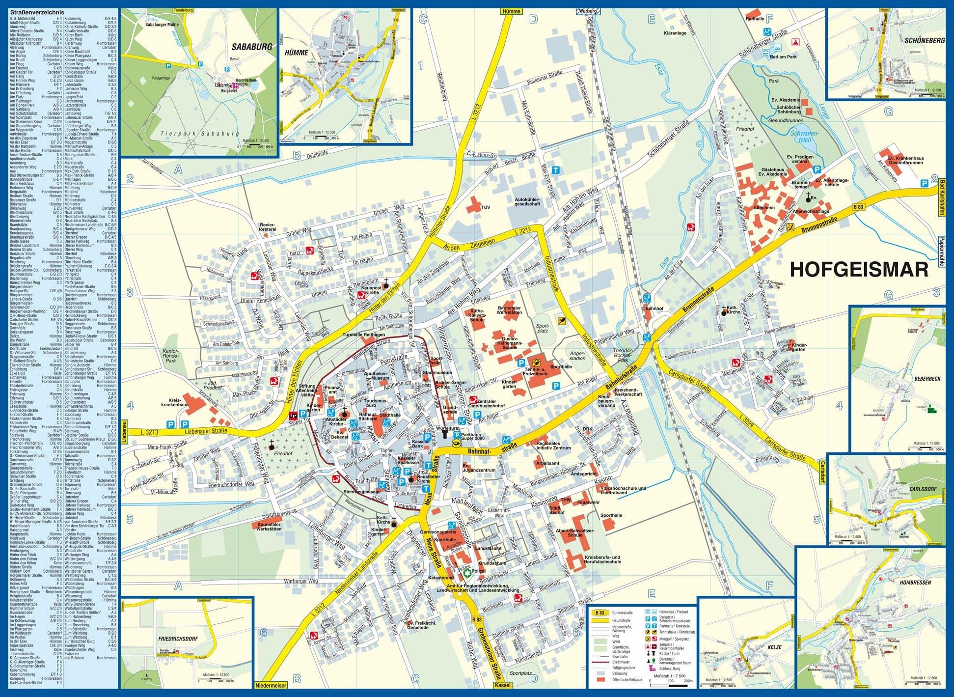 Stadtplan | Hofgeismar - Dornröschenstadt am Reinhardswald